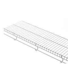 4 ft. x 12 in. White Freeslide Shelf Kit