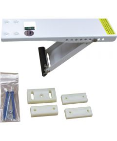 Window Support Bracket, For Use With Air Conditioners Upto 80 lb., Steel, Baked-On Epoxy