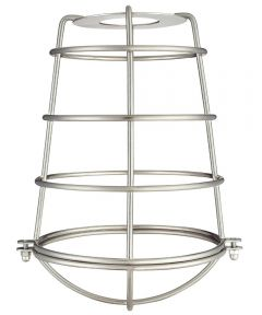 Westinghouse 8-3/16 in. Industrial Cage Neckless Shade, Brushed Nickel