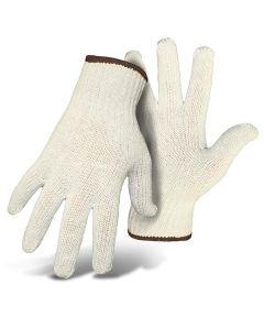 Mens Large White Reversible String Knit Gloves