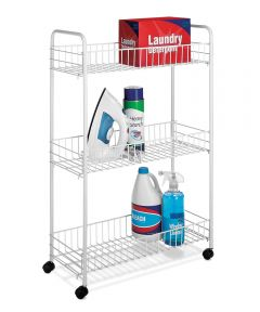 White Slim Household Cart