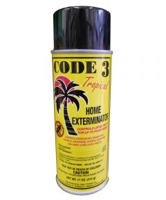 Code 3 Tropical Spray Killer for Roaches, Bedbugs, Fleas, Spiders & Ants, 11 oz.