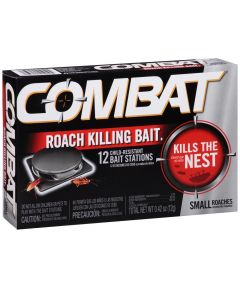 Combat Small Roach Killng Bait, 12 Pack