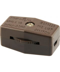 Brown Lamp Cord Switch (3 Amp-120 Volt)