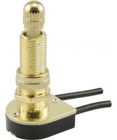1-Circuit Long Shank Rotary Switch w/ Removable Knob (6 Amp-125 Volt x 3 Amp-250 Volt)