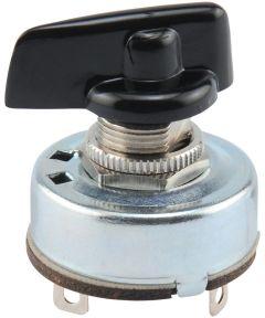 2-Speed Rotary Switch w/ 3 Solder Terminals (4 Amp-125 Volt x 2 Amp-250 Volt)