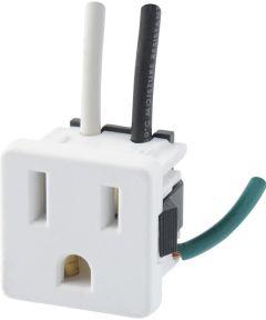 3-Prong White Range Outlet (15 Amp-125 Volt)