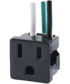 3-Prong Black Range Outlet (15 Amp-125 Volt)