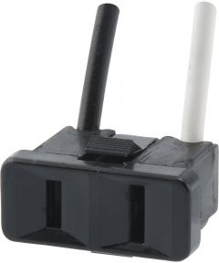 2-Prong Black Range Outlet (15 Amp-125 Volt)