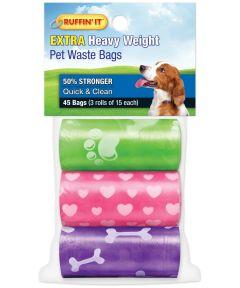 Rhode Island Ruffin' It Dog Waste Bags, Extra Heavy Weight, 3 Rolls
