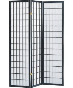 Shoji Screen 3-Panel Black