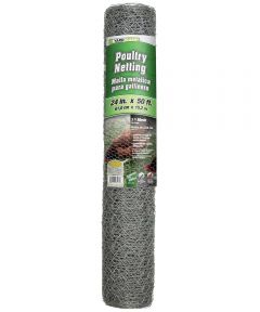 "24"" x 50' 1"" Mesh Hexagonal Poultry Netting Chicken Wire"