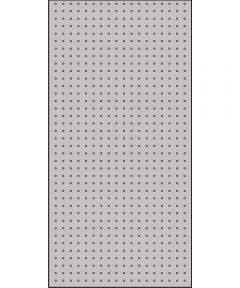 3/16 in. x 2 ft. x 4 ft. Silver Pegboard