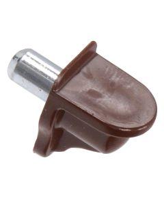 Brown Metric Shelf Pins with Metal Stem