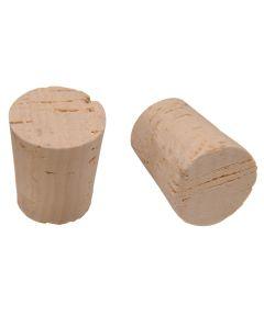 Milk Bottle Size Cork Stopper (1-1/8 in. Top Dia. x Size #12)