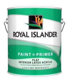 1 Gallon Interior Flat White Base Paint + Primer