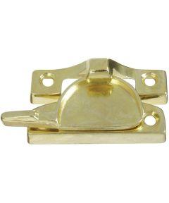Sash Lock, 2.812 in. (L), Die-Cast Zinc Plated, Brass