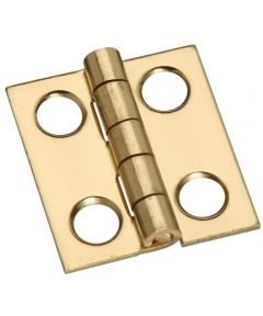 Hinges 3/4X11/16 in. Sld Brass