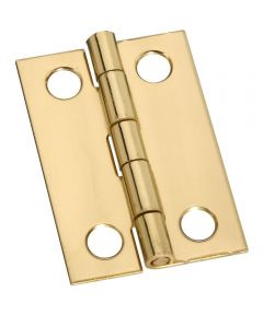Hinges 1-1/2X1 in.  Sld Brass