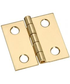Hinges 1X1 in. Sld Brass