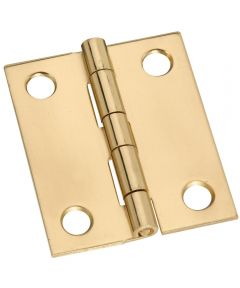 Hinge 1-1/2X1-1/4 in. Sld Brass