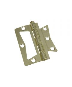 Surface Mount Hinges 3 in. Brass