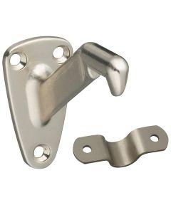 Handrail Bracket With Steel Strap, Satin Nickel