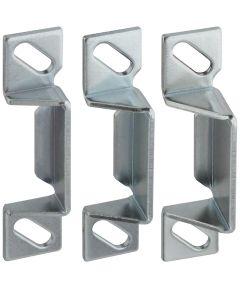 Replacement Rigid Strike Set, Steel, Zinc
