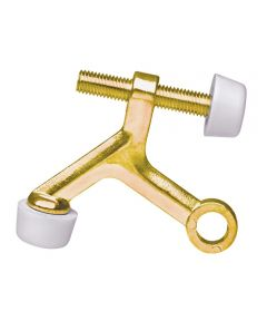 Doorstop Hinge Pin Brt Brass