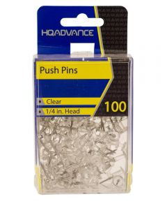 Clear Push Pins 100 Count