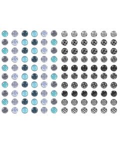 Black And White Fashion Push Pins 60 Count