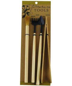 Syndicate 4 Piece Terrarium Tool Kit (Brush, Rake, Shovel, Tongs)