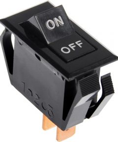 SPST No-Light Rocker Switch w/ On-Off Imprint (20 Amp-125 Volt x 16 Amp-250 Volt)