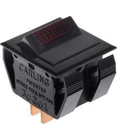 DPST Light Rocker Switch w/ Red Lens (16.1 Amp-125/250 Volt