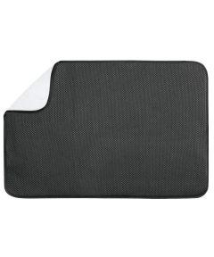 iDry Kitchen Counter Drying Mat, XL Black/White