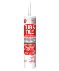 10.1 oz. White Silicone Tub & Tile Caulk