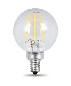 4.5 Watt Soft White G16-1/2 Crystal Clear Dimmable Globe Led