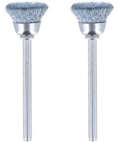 Dremel 442 Rotary 1/2 in. Carbon Steel Wire Brushes, 2 Pack