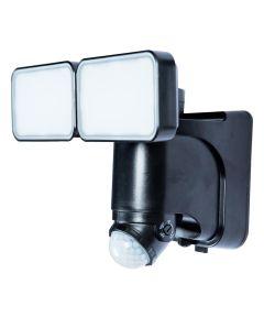 600 Lumen Black Solar LED Motion Activated Security Light