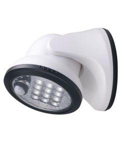 5.9 in. White 12 LED Porch Light
