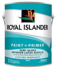 1 Gallon Interior Semi-Gloss White Base Paint + Primer