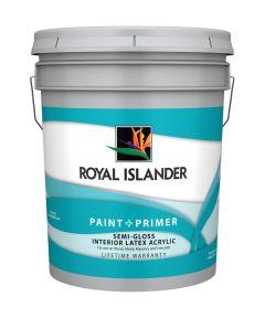 5 Gallon Interior Semi-Gloss White Base Paint + Primer