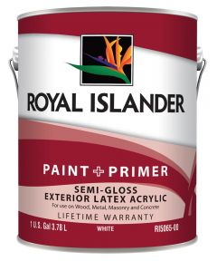 1 Gallon Exterior Semi-Gloss White Base Paint + Primer