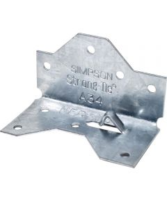 1-7/16 in. x 2-1/2 in. 18 Gauge Galvanized Framing Angle with ZMAX Coating