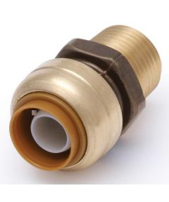 1/2 in. x 1/2 in. MNPT Brass Male Push-Fit Threaded Adapter
