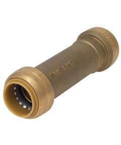 3/4 in. x 3/4 in. Brass Pex Push-Fit Repair Slip Coupling