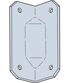 Ga 2-3/4 In. 18-Gauge Galvanized Gusset Angle
