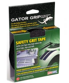 Gator Grip Traction Tape Anti Slip Safety Grit, 1 in. x 15 ft., Black