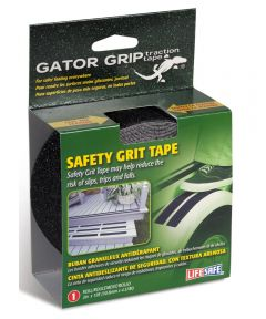Gator Grip Traction Tape Anti Slip Safety Grit, 2 in. x 15 ft., Black