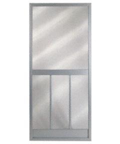 36 in. x 80 in. Bravo Steel Hinged Screen Door, Gray